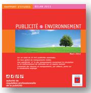 Bilan Publicité et Environnement 2011