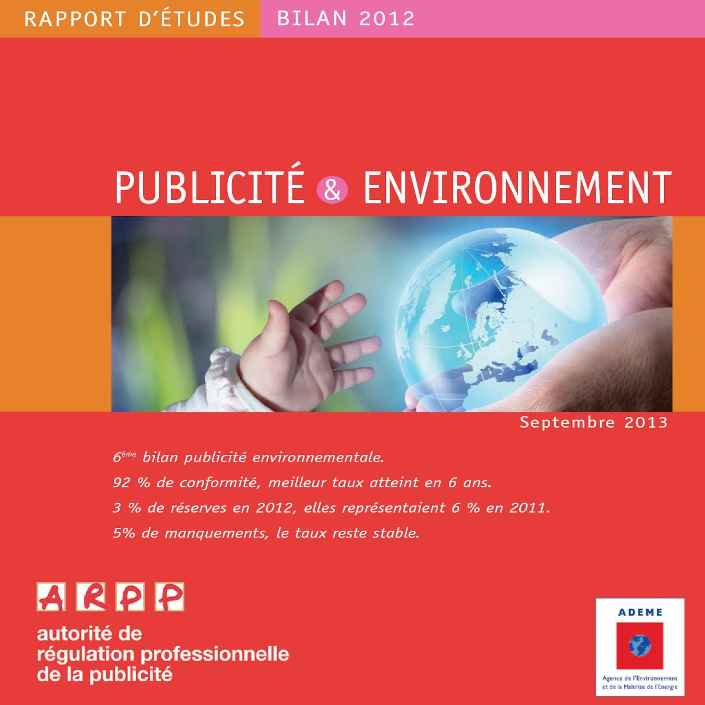 Bilan Publicité et Environnement 2012
