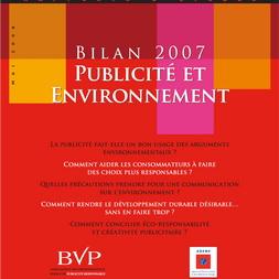 Bilan Publicité et Environnement 2008