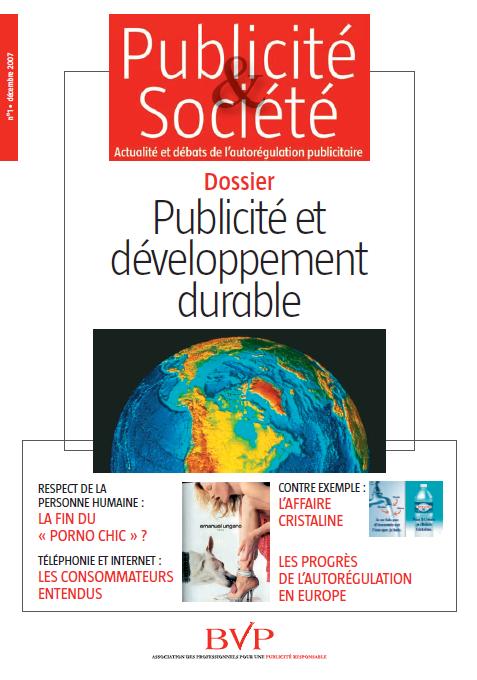 Publicité et société – n°1 décembre 2007