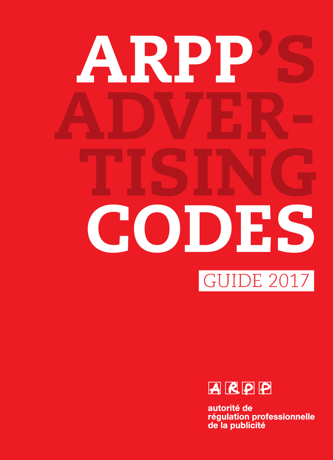 ARPP's advetising codes