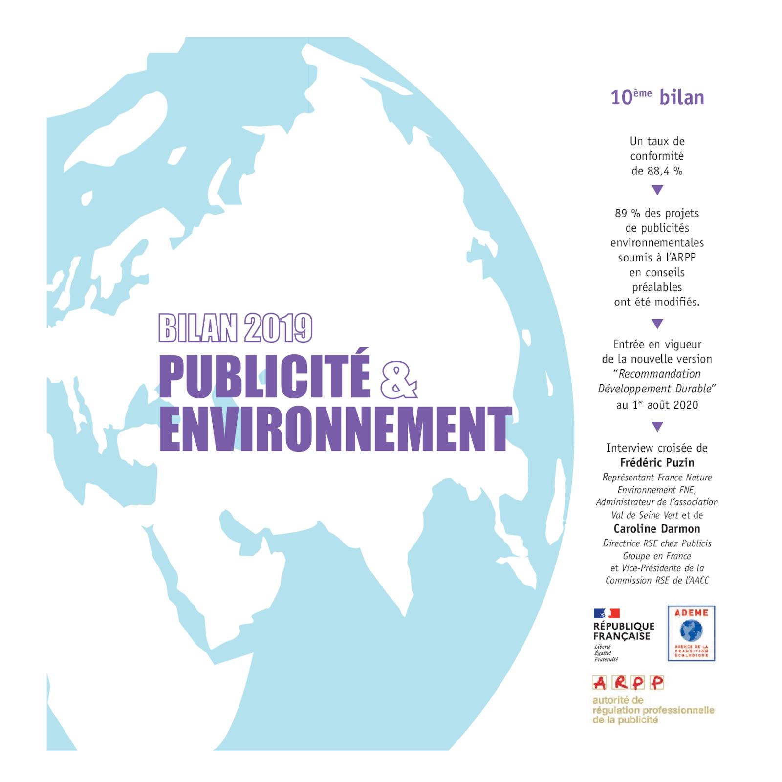 Bilan publicité et environnement 2019