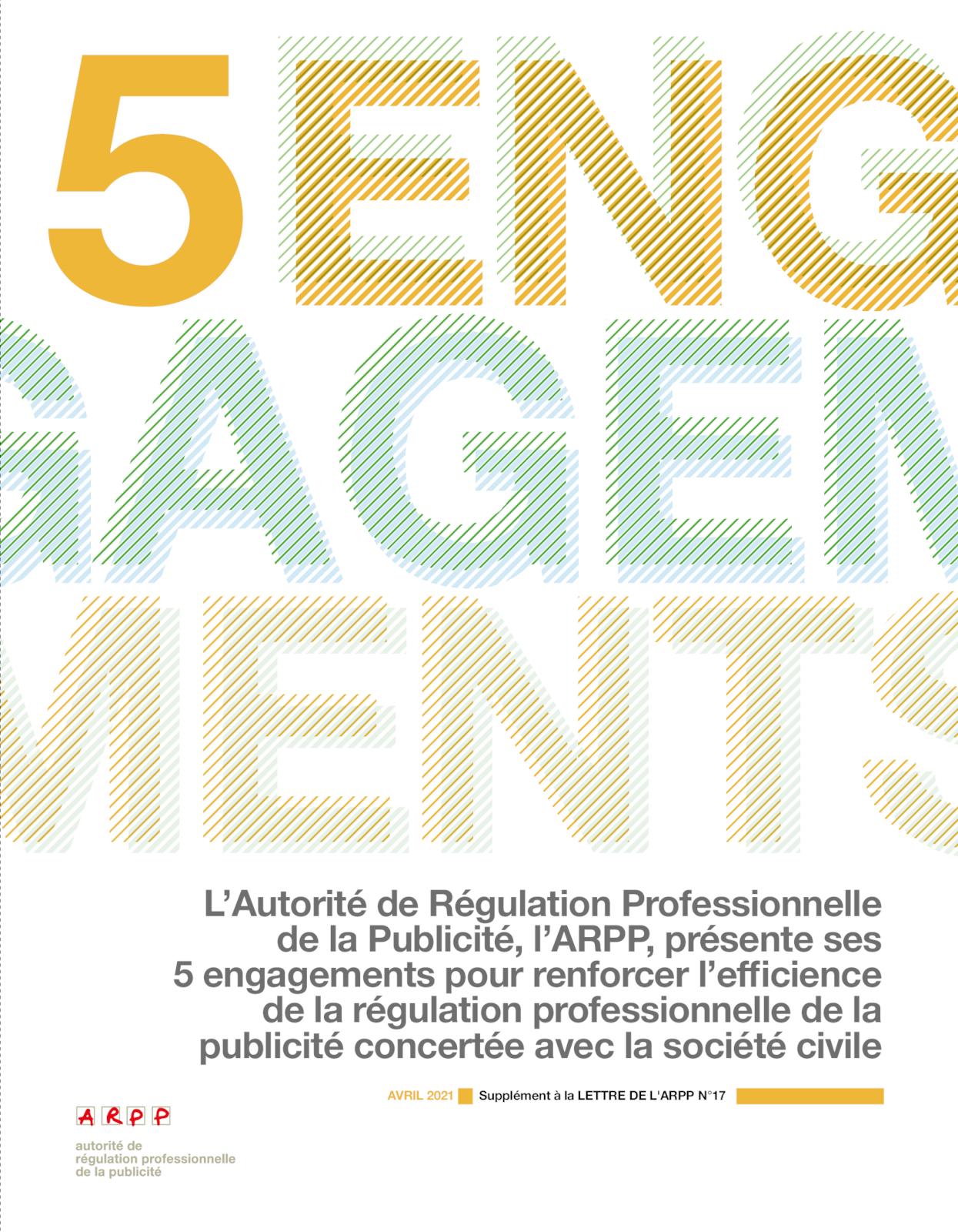 L'ARPP n°17 - Supplément 5 engagements concrets de l'ARPP