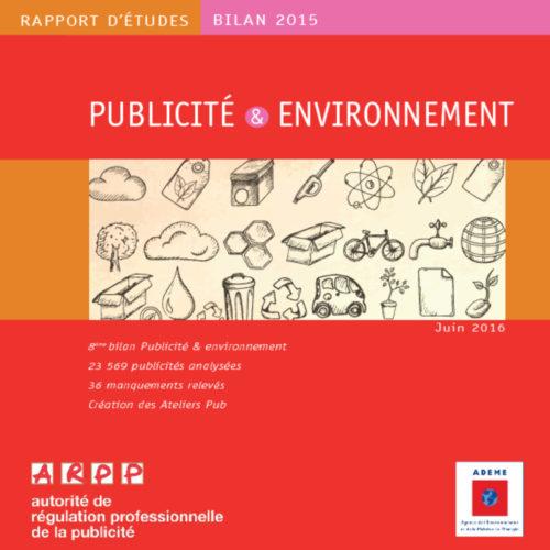 Bilan Publicité et environnement 2015