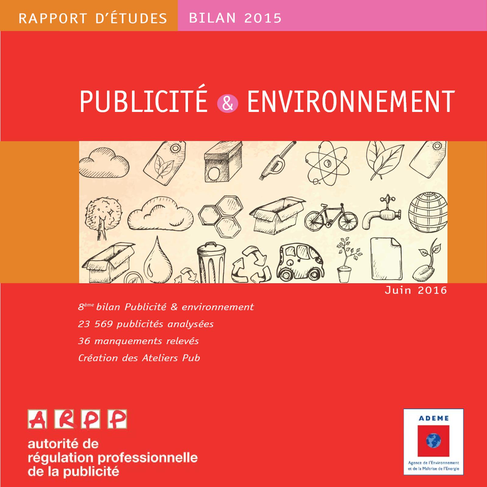 Publicité et environnement 2015