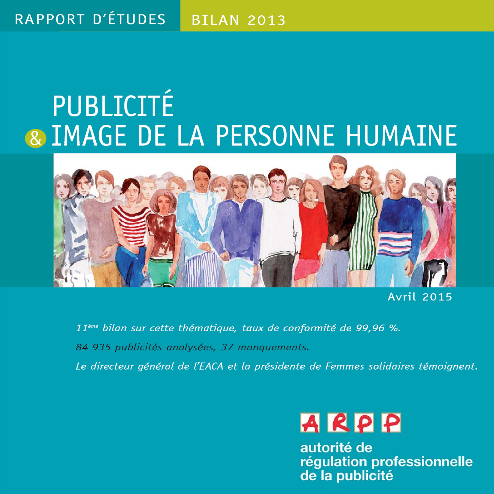 Bilan Publicité et Image de la Personne Humaine 2013