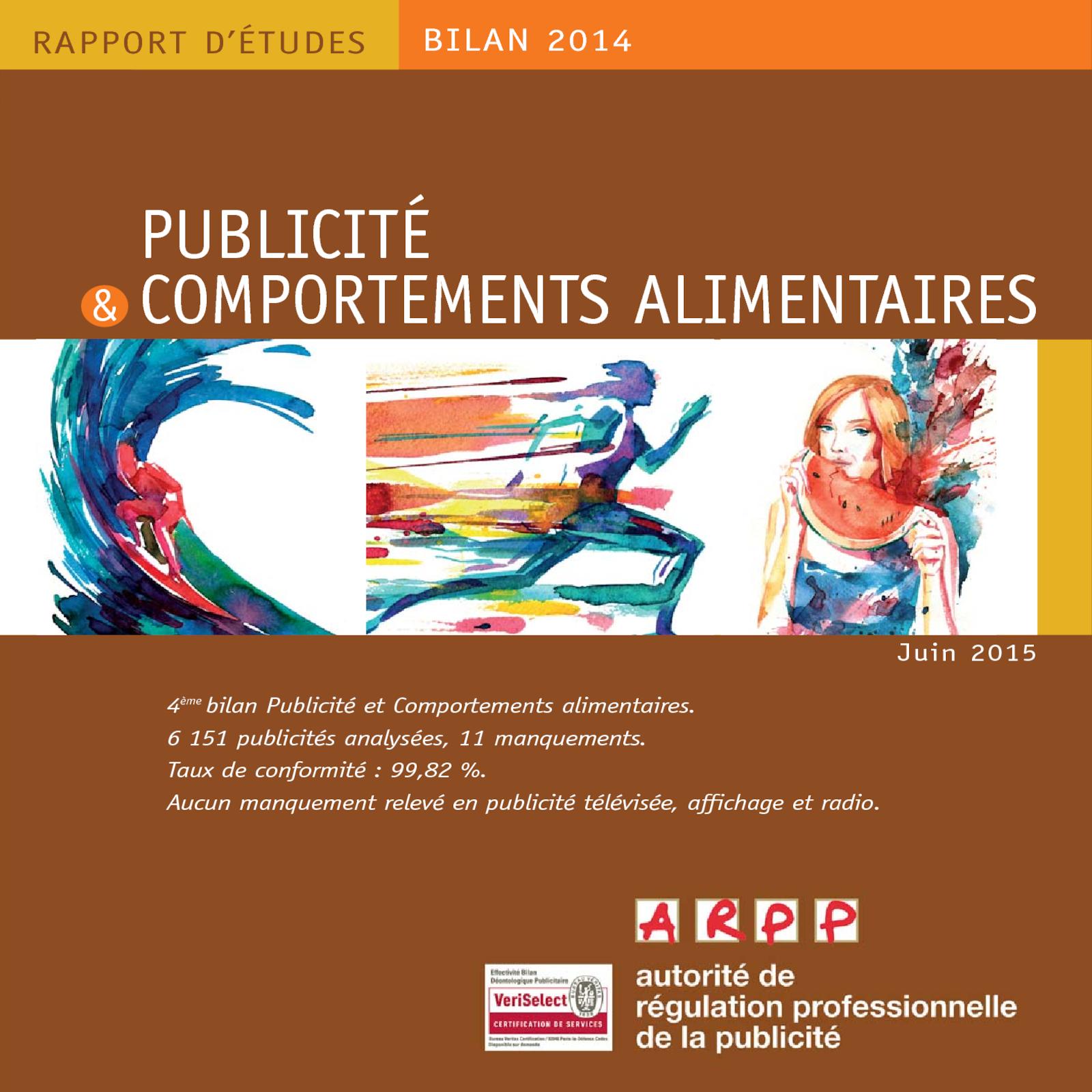 Bilan Publicité et Comportements Alimentaires 2014