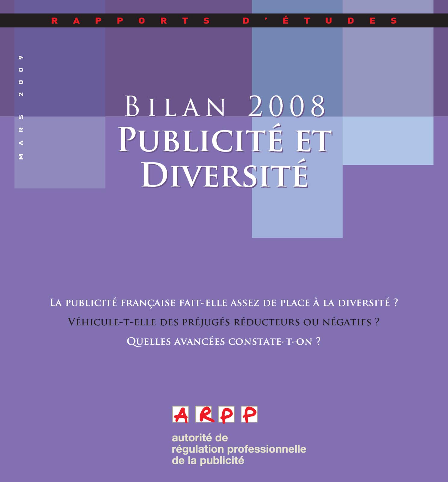 Publicité et diversité 2009