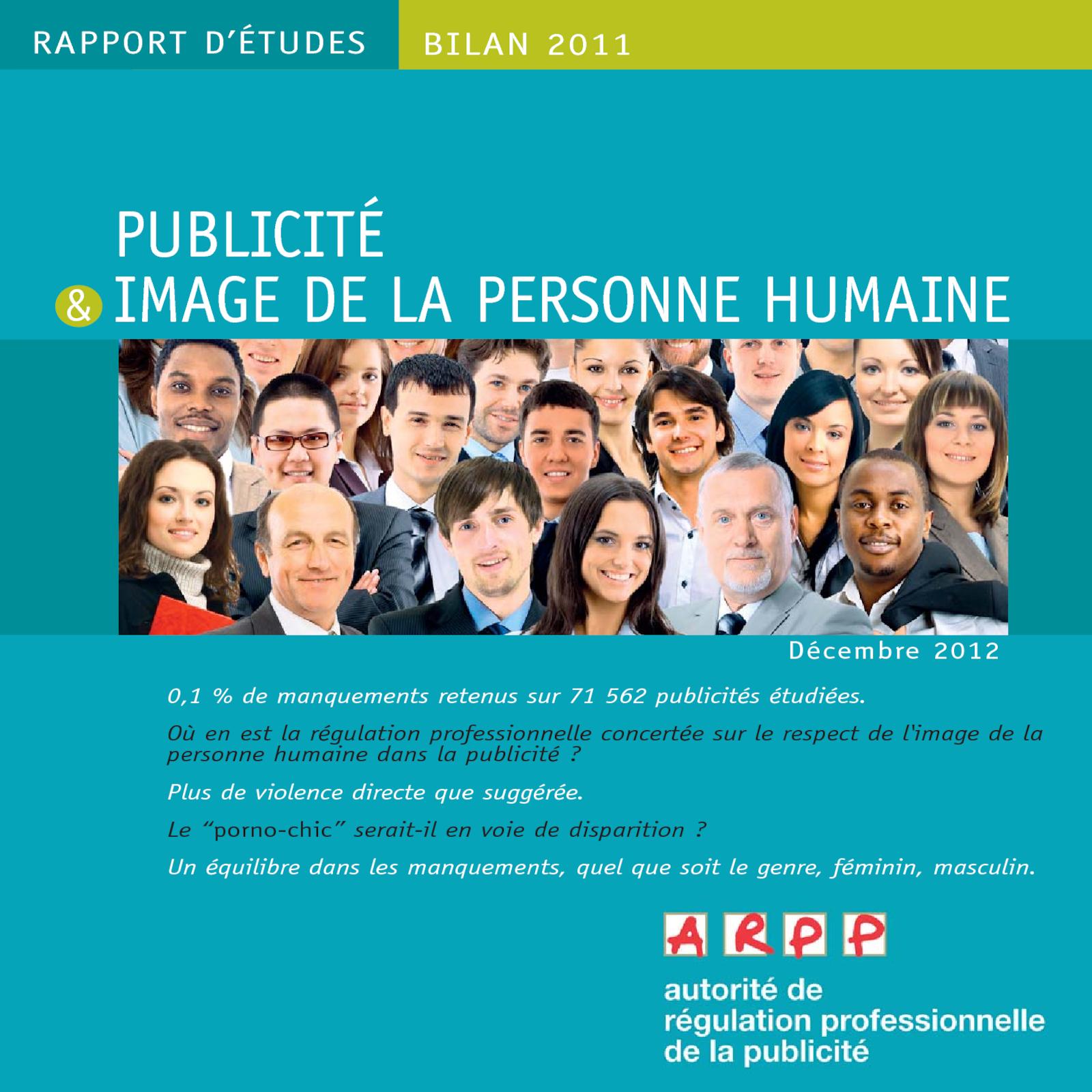 Bilan Publicité et Image de la Personne Humaine 2011