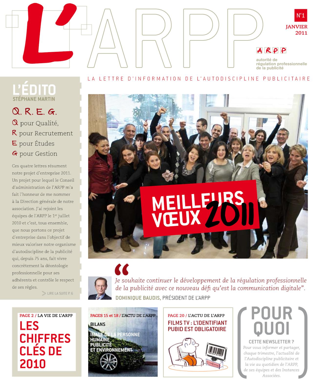 Lettre n°1 – Janvier 2011