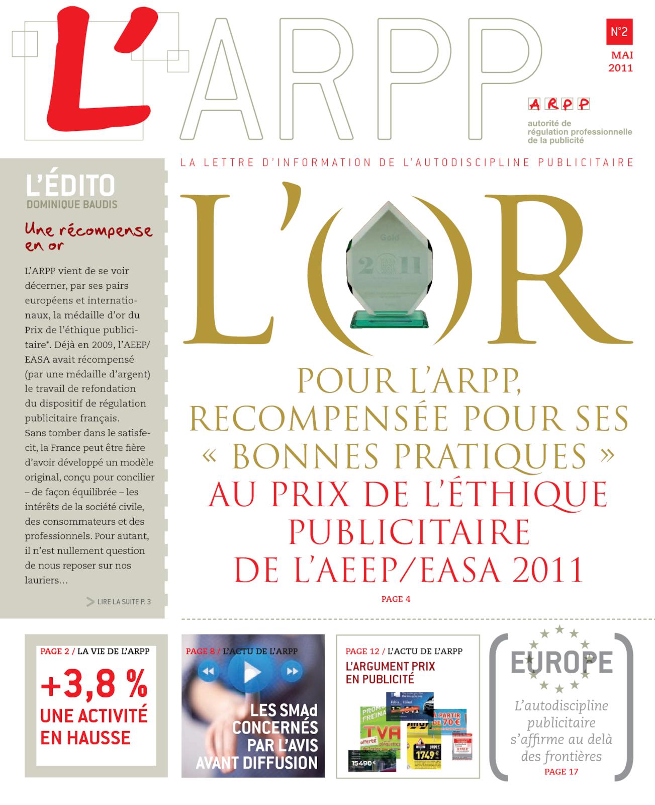 Lettre n°2 – Mai 2011