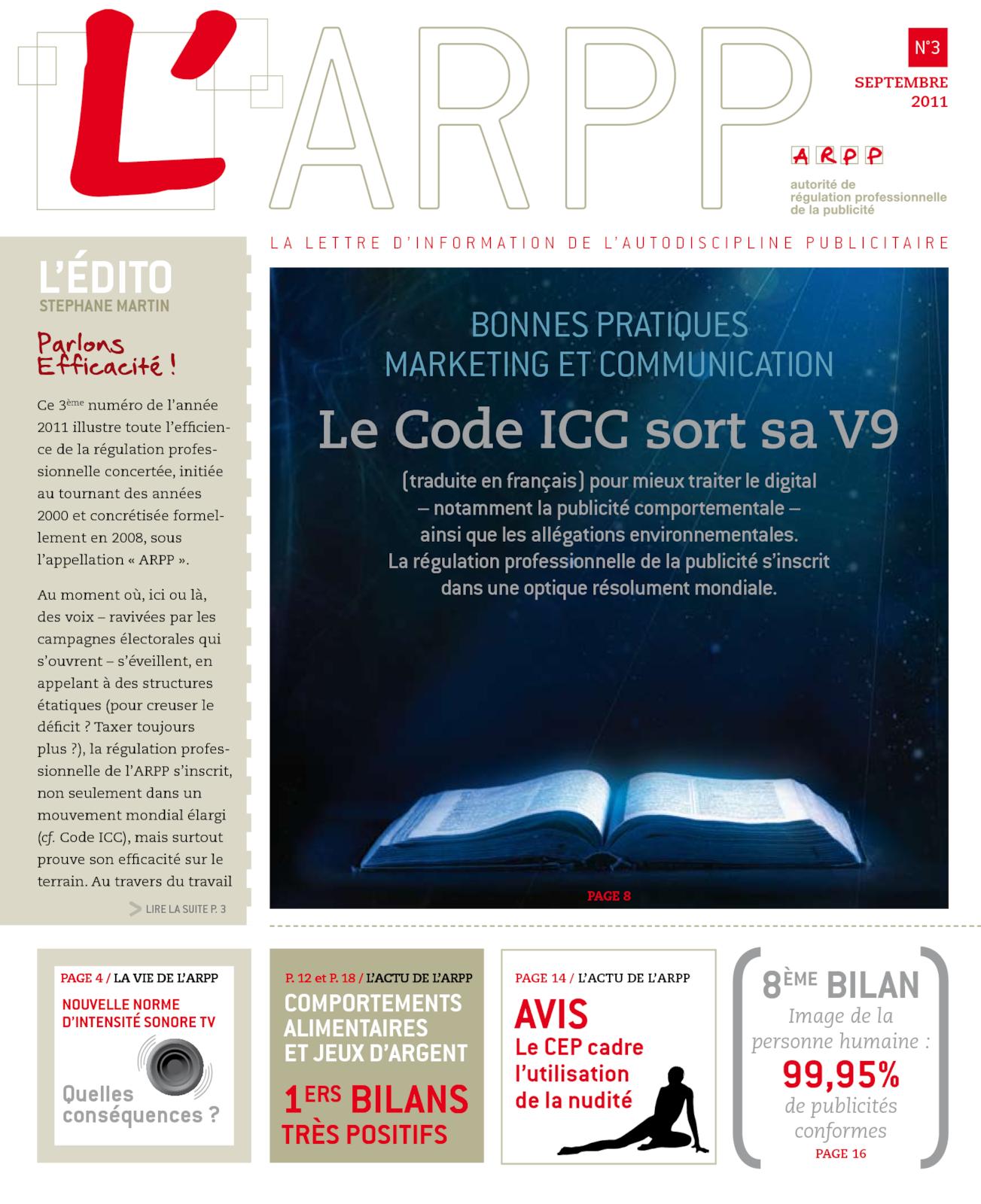 Lettre n°3 – Septembre 2011