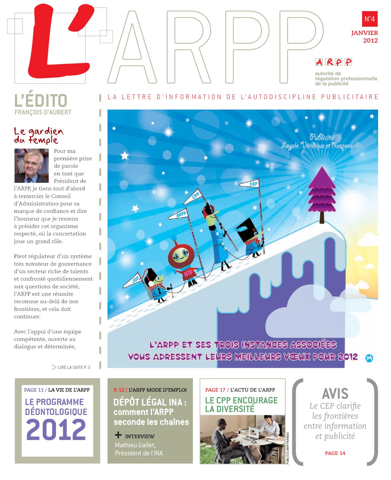 Lettre n°4 – Janvier 2012
