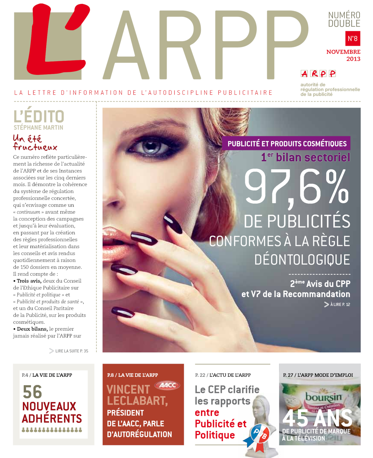 Lettre n°8 - Novembre 2013