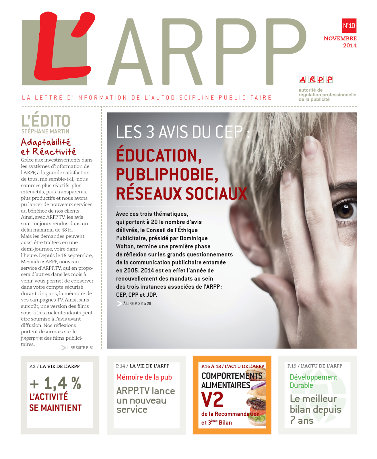 Lettre n°10 - Novembre 2014