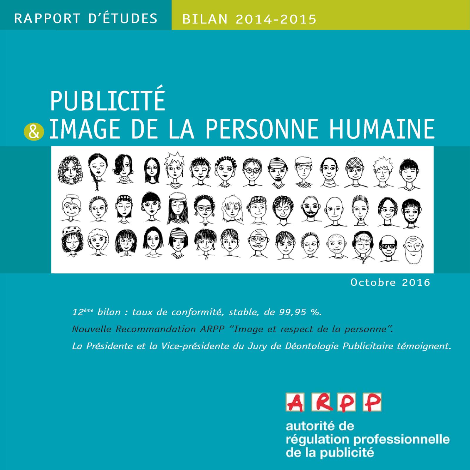 Bilan Publicité et Image de la personne humaine 2014 – 2015